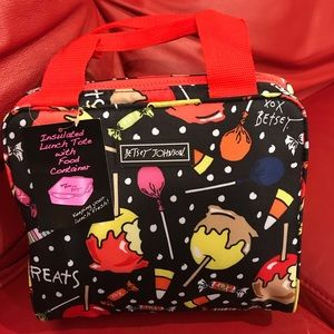 NWT Betsey Johnson Halloween candy Lunchtote